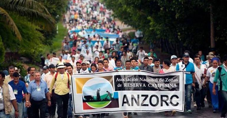 Asociación nacional llama a que zonas de reserva campesina se sumen al paro - ANZORC-770x400