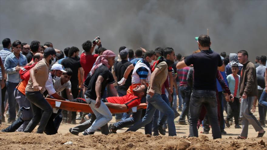 Fuerzas israelíes matan a 18 palestinos en protestas en Gaza - Los-manifestantes-palestinos