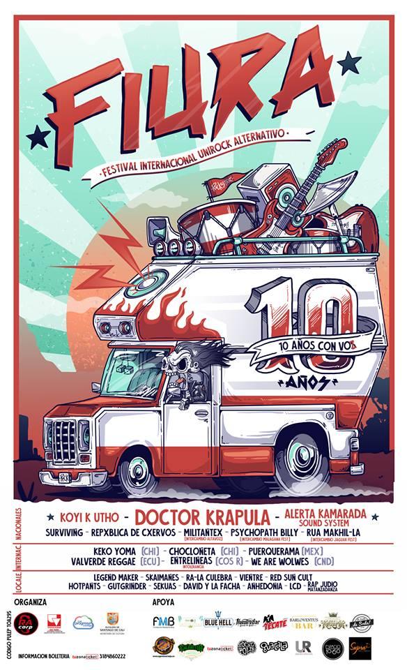 FIURA CALI 2018  Festival internacional unirock alternativo - fiura-1
