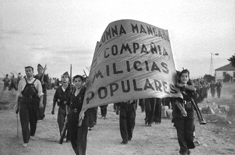 """""""Hasta mi último aliento en defensa de la República Española"""" El Brigadista Internacional Virgilio Fernández cumple 100 años - Columna-Mangada.-Milicias-Populares-1936"""