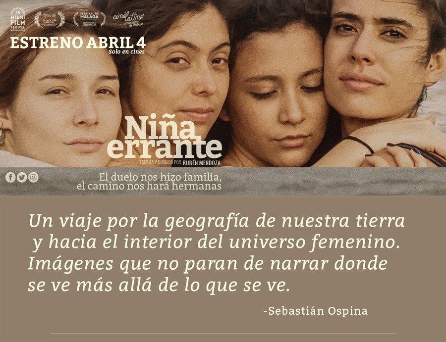 Niña Errante, Mejor Película en el Festival de Cine Colombiano de Nueva York - 1-11