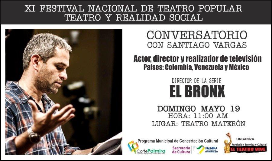 El Teatro Popular se toma Palmira - Conversatorio-Santiago-Vargas-Festival-de-Teatro-Popular-Palmira