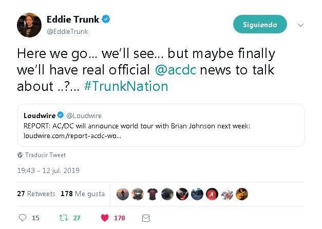 Los rumores de que AC/DC anunciará la próxima semana una gira mundial para este 2019 y el 2020. - acdc2