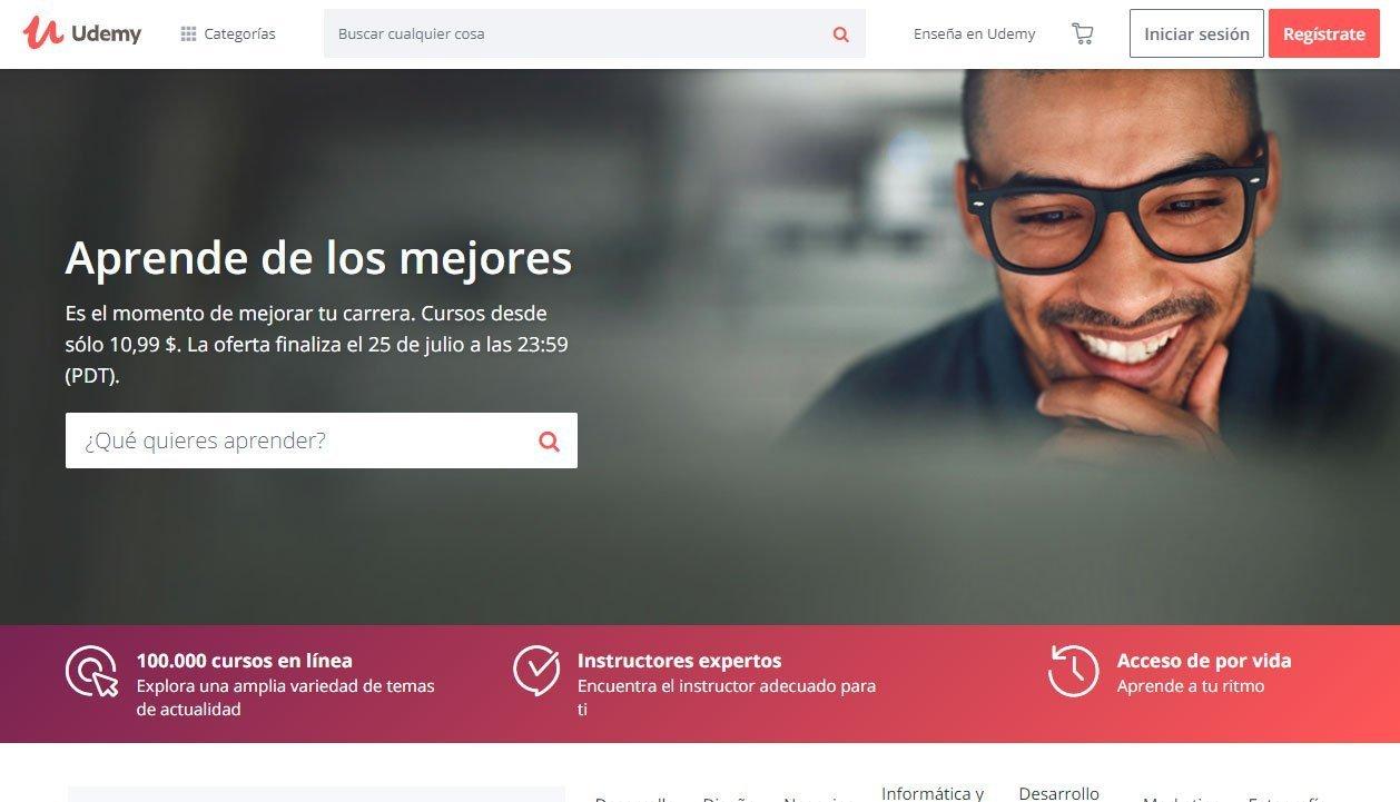 Cómo crear una página web desde cero - udemy