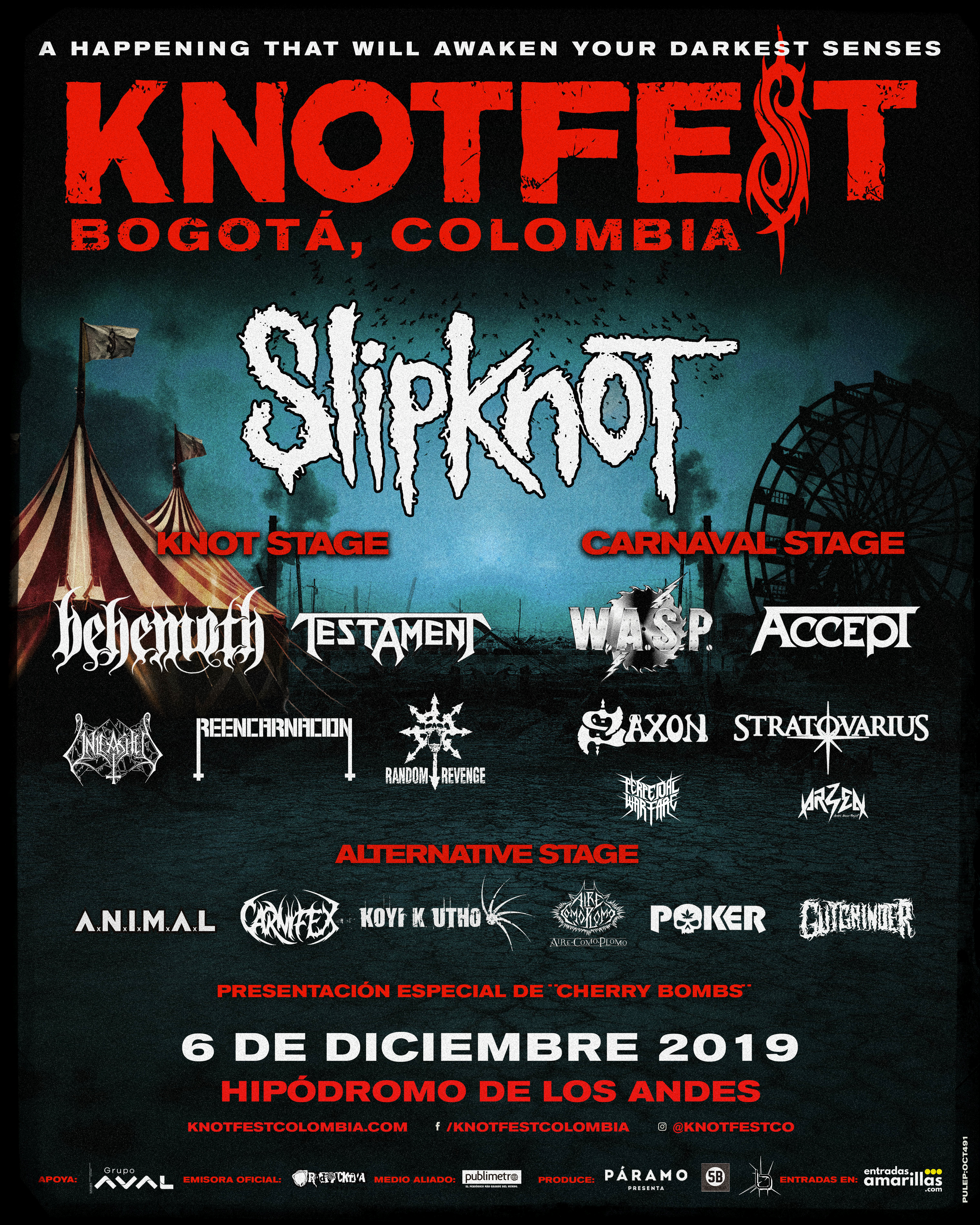 CARTEL KNOTFEST COLOMBIA 2019 - 10-11