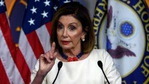 La presidenta de la Cámara de Representantes de EE.UU., Nancy Pelosi, durante una rueda de prensa en Washington, 26 de septiembre de 2019. (Foto: AFP)