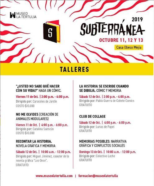 Feria de Gráfica y publicaciones independientes de Cali SUBTERRÁNEA - SUBTERRANEA_MLT_ÍO