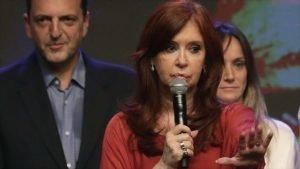 La vicepresidenta electa de Argentina, Cristina Fernández, en un acto en Buenos Aires, capital argentina, 27 de octubre de 2019. (Foto: AFP)