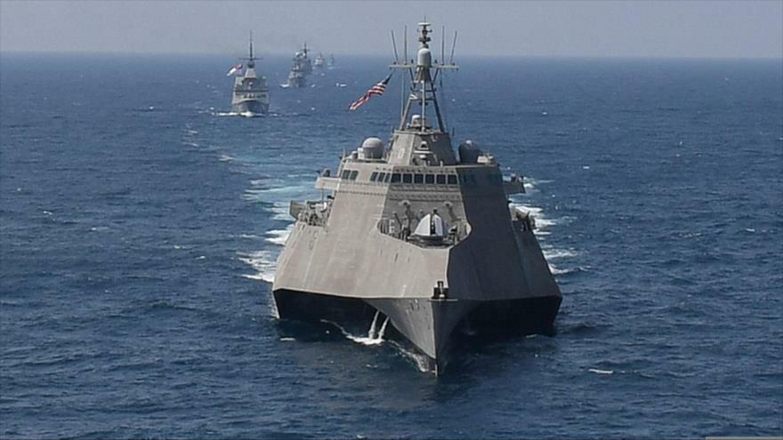 El buque estadounidense USS Montgomery en el golfo de Tailandia, 4 de septiembre de 2019. (Foto: AFP)