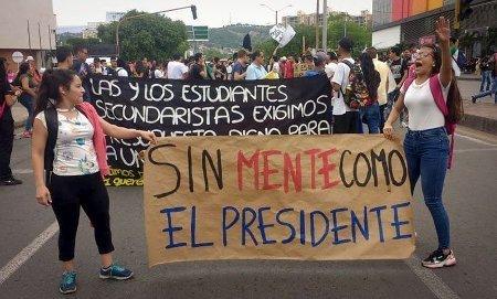 Movilización estudiantil del 10 de octubre de 2019 en Cúcuta. Foto: Colombia Informa