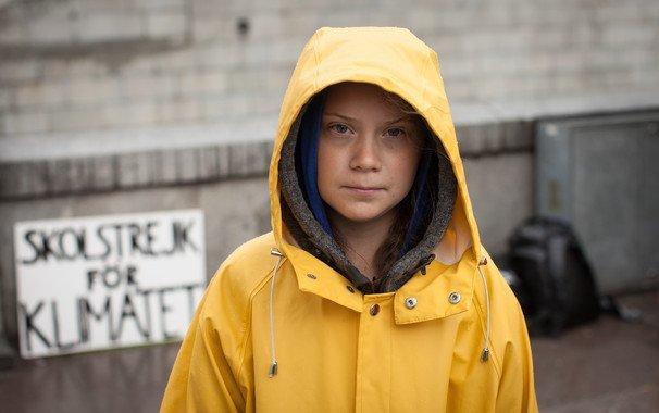 Greta Thunberg a las puertas del Parlamento Sueco. / Wikimedia Commons