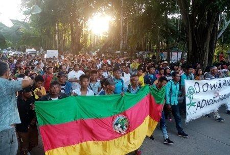 Marcha indígena y popular en Montería - oindigenacordoba_1_