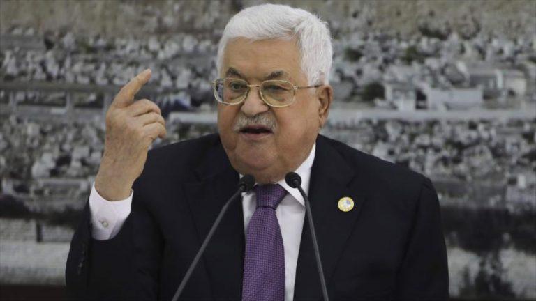 El presidente palestino, Mahmud Abás, en una reunión en Ramalá, 6 de octubre de 2019. (Foto: AFP)