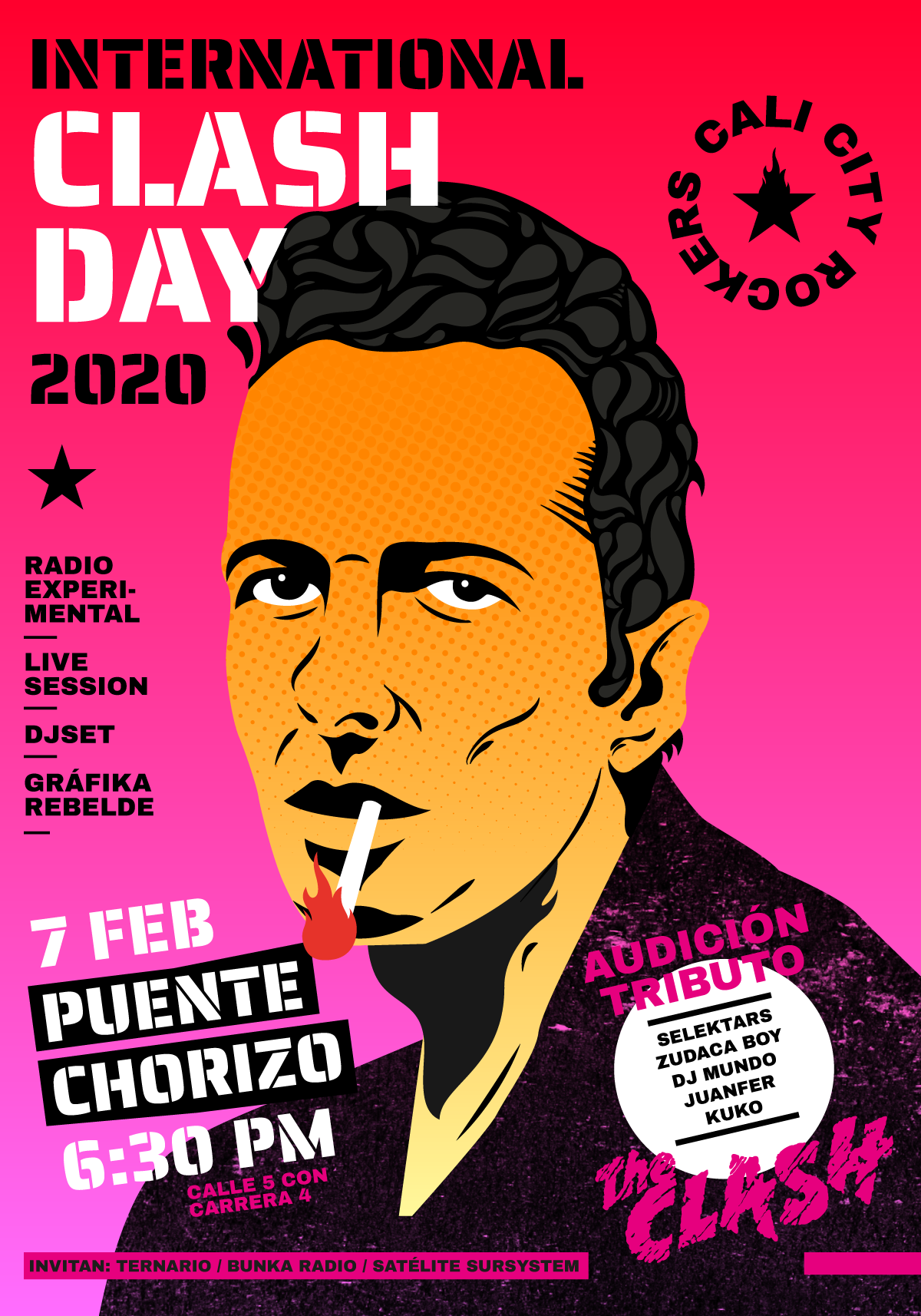 Homenaje a The Clash desde la comunicación alterativa/// Cali city rockers - CLASH-DAY_1