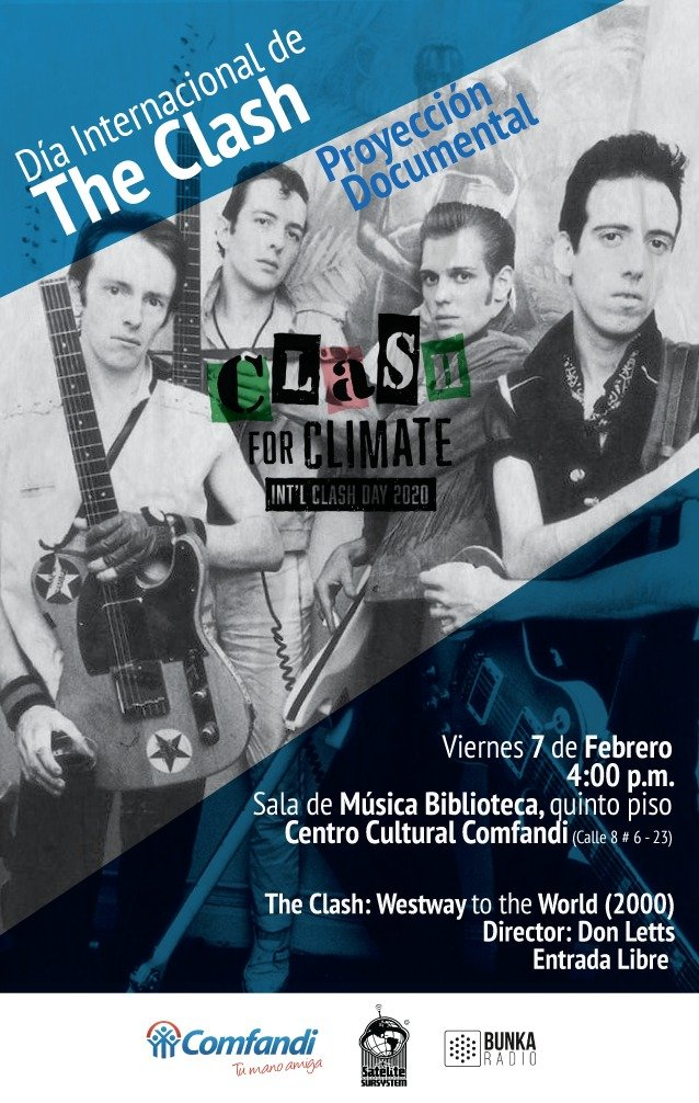 Homenaje a The Clash desde la comunicación alterativa/// Cali city rockers - TheClashDay2020