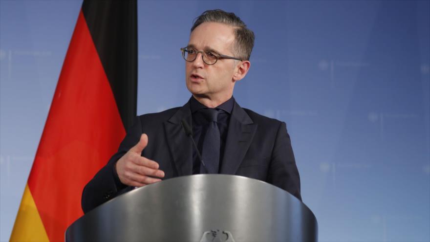 El ministro de Exteriores de Alemania, Heiko Maas, en una conferencia de prensa en Berlín, 4 de marzo de 2020. (Foto: AFP