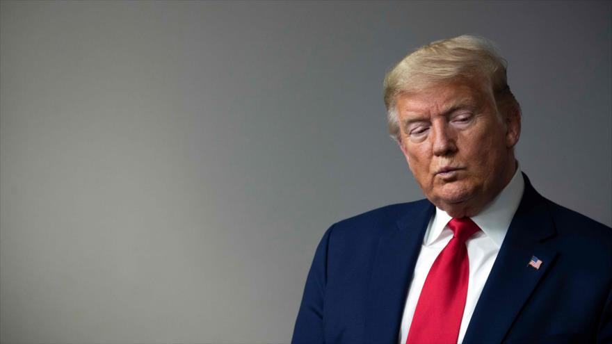 El presidente de EE.UU., Donald Trump, durante una sesión informativa en la Casa Blanca en Washington, 3 de abril de 2020. (Foto: AFP)