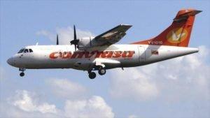 Avión de la aerolínea estatal Consorcio Venezolano de Industrias aeronáuticas y servicios aéreos (Conviasa).