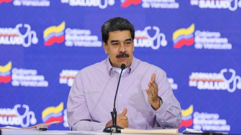 El presidente venezolano, Nicolás Maduro, en el Palacio de Miraflores, 14 de mayo de 2020. (Foto: AFP)