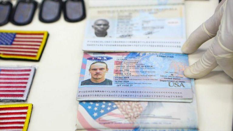 Pasaportes de los militares estadounidenses capturados por las fuerzas de Venezuela por actos de terrorismo.