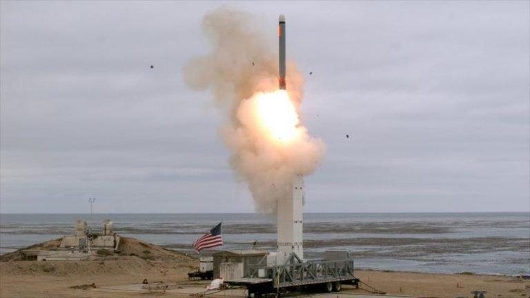El momento del lanzamiento de un misil de crucero estadounidense durante una prueba, California, EE.UU., 18 de agosto de 2019. (Foto: Reuters)