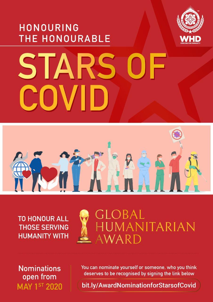 "La World Humanitarian Drive (WHD) convocan los premios internacionales ""Estrellas del Covid"" - 281fc9ad-59fb-43d6-a558-b26dcda6ad45"
