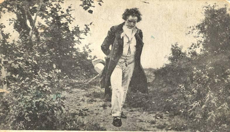 Beethoven paseando en la naturaleza. / Julius Schmid