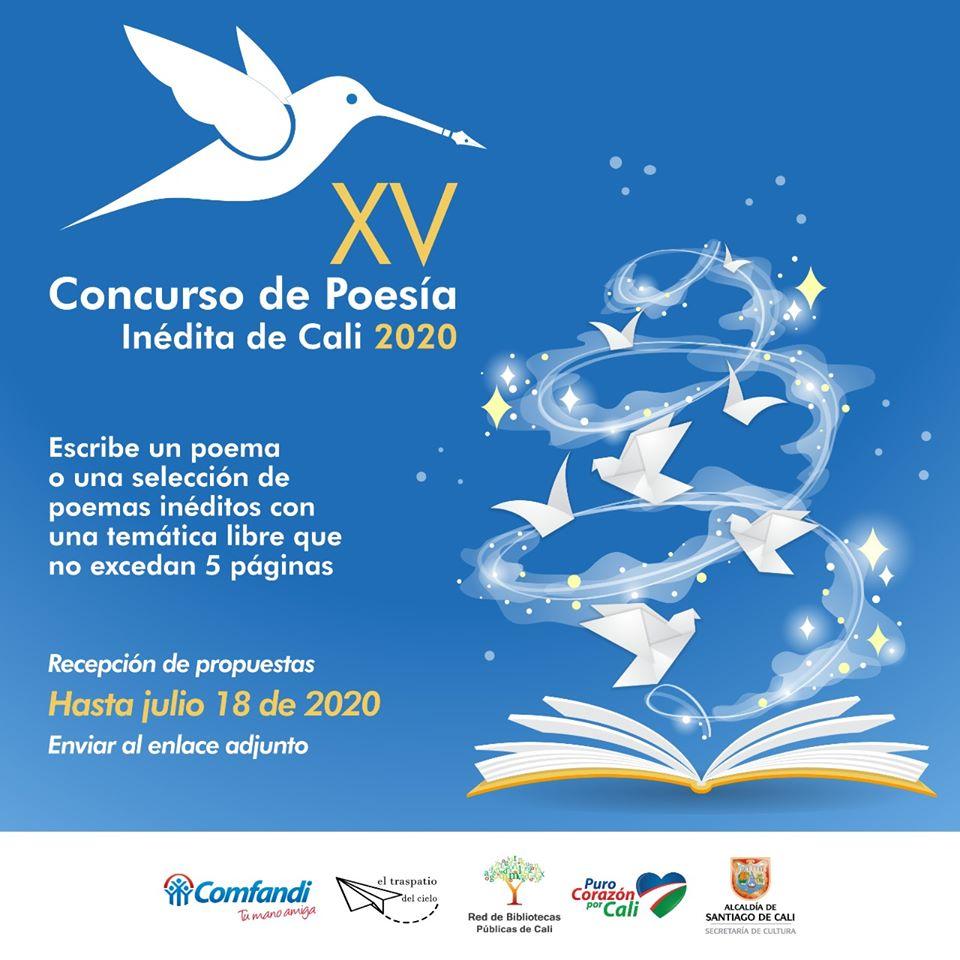 Invitación al XV Concurso de Poesía Inédita de Cali - Pieza-Concurso-2020