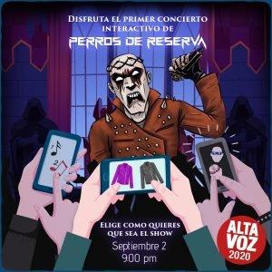 Perros de Reserva estrena un show INTERACTIVO en vivo el 2 de septiembre en Ciudad Altavoz - concierto-virtual-1-300x300