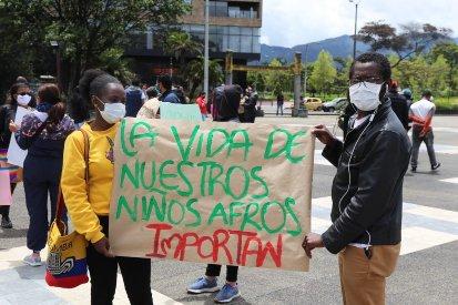 Frente a la masacre de jóvenes en barriada popular de Cali Que ser joven afro en Colombia no nos cueste la vida - protesta_negra_2