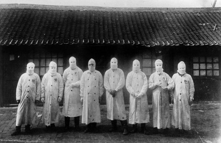 Manchuria (China) en 1911. La Tercera Pandemia de Peste golpeó el mundo entre 1894 y 1959. Fue la primera en ser fotografiada. Institut Pasteur / Archivos Henri Mollaret
