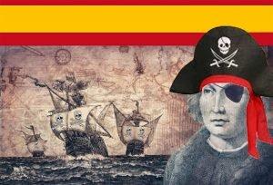descubrimiento de América, acto de pirateria. Diseño Yuma. - descubrimiento-de-America-acto-de-pirateria.-Diseno-Yuma.-300x204