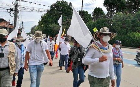 Firmantes de la paz marchan en repulsa a más de 230 asesinatos. Avanza peregrinación de excombatientes hacia Bogotá - movilizacion_villabo_4