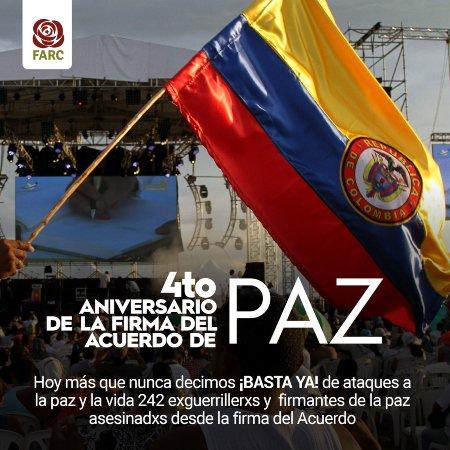 Opinión: A cuatro años del Acuerdo Final de Paz, firmes y dignos - farc_paz_hoy