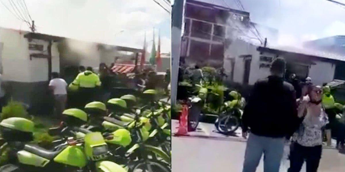 EL INFIERNO - incendio-en-Estación-de-Policía-de-San-Mateo