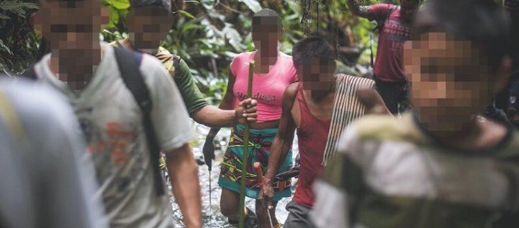 Niño y docente embera heridos por una mina antipersona - Emberas-Jiguamiando-750x330-1