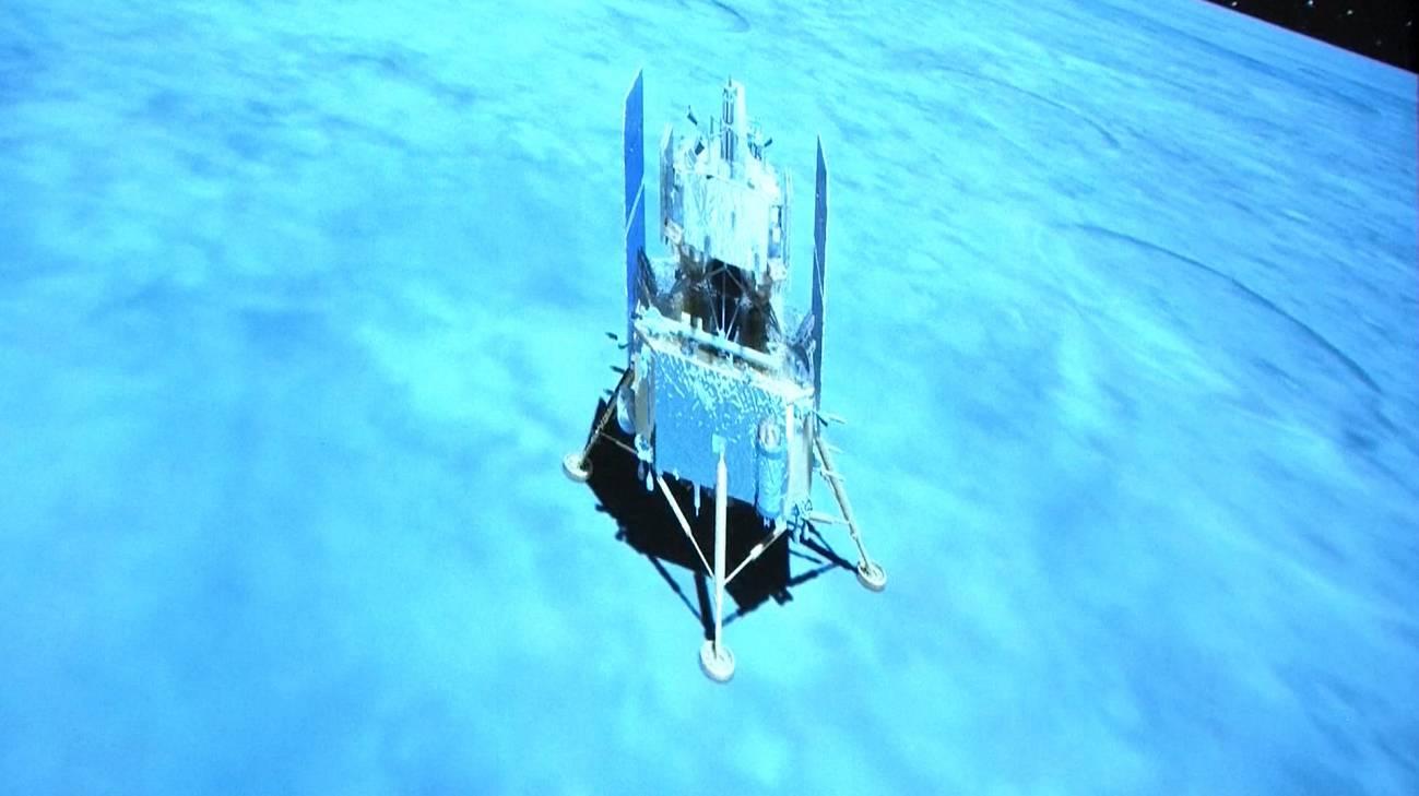 La sonda china Chang'e 5 aterriza en la Luna para traer muestras - La-sonda-china-Chang-e-5-aterriza-en-la-Luna-para-traer-muestras