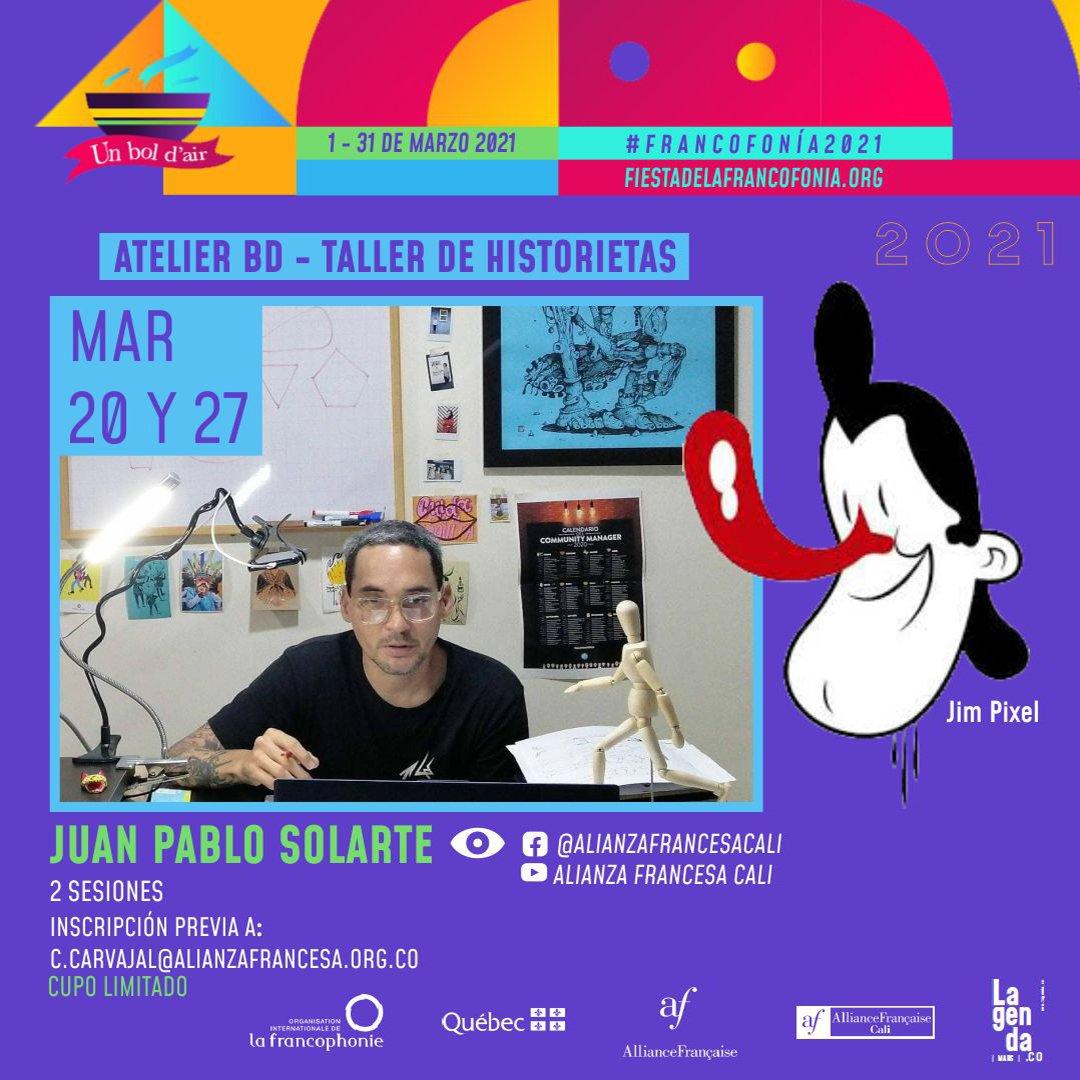 Fiesta de la francofonía 2021 - Atelier-BD-Taller-de-historietas-1