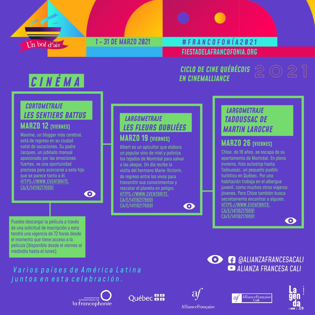 Fiesta de la francofonía 2021 - CINEMALLIANCE