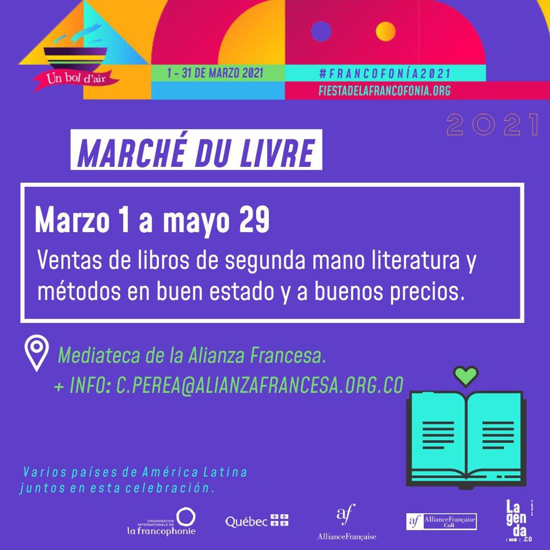 Fiesta de la francofonía 2021 - Marche-du-livre
