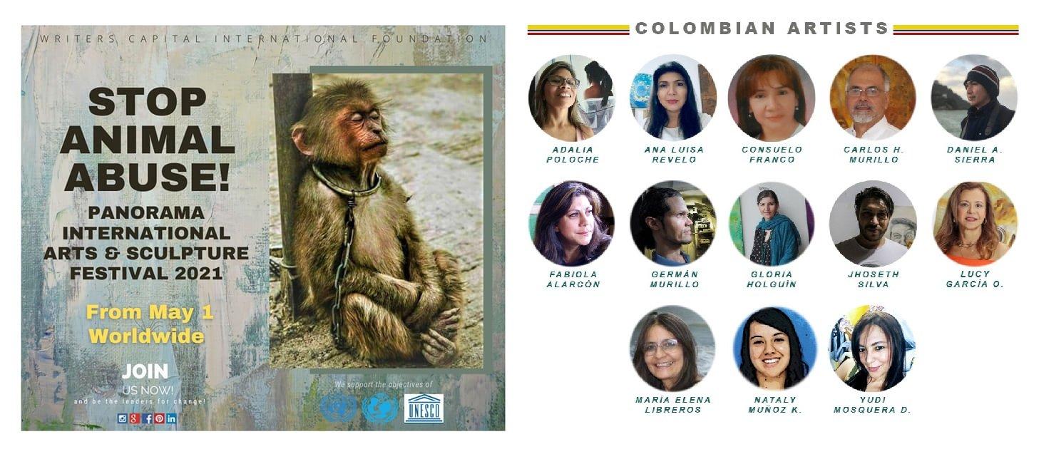 Pintores colombianos exponen mundialmente contra abuso animal - Expo-No-al-abuso-animal