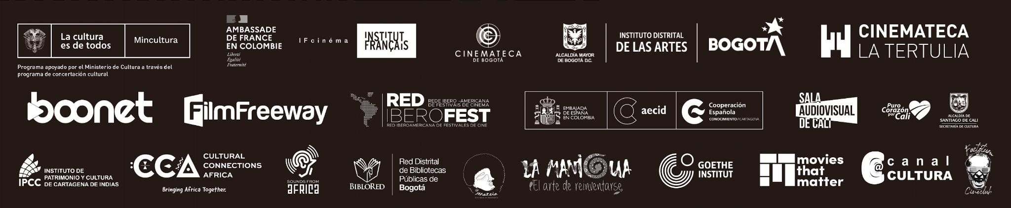 Muestra Itinerante de Cine Africano - MUICA 2021 - Logos-principales-faldon-blanco-y-negro