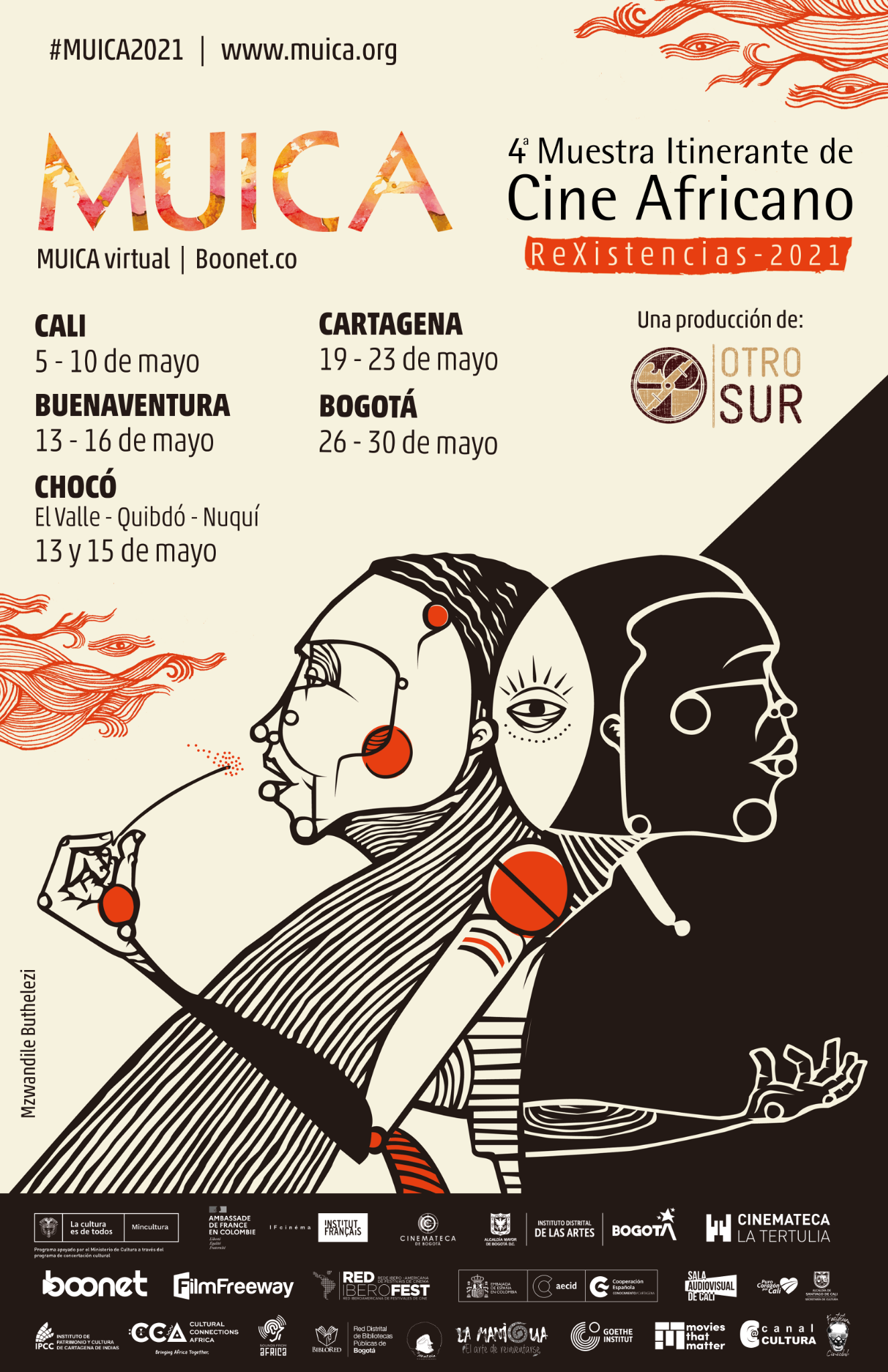 Muestra Itinerante de Cine Africano - MUICA 2021 - POSTER-PRINCIPAL_MUICA_2021_version_final