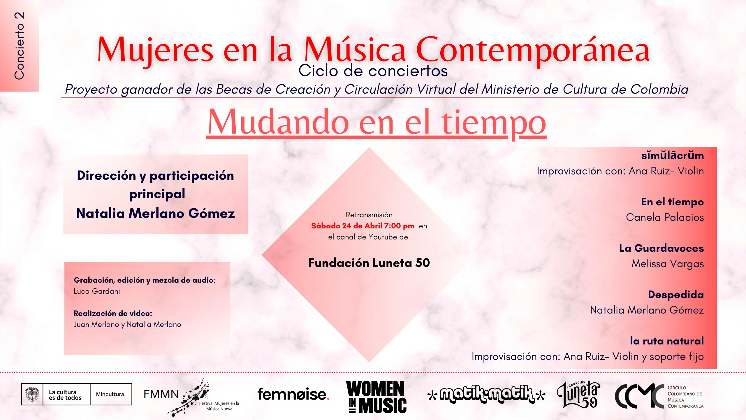 """""""MUDANDO EL TIEMPO"""",  CONCIERTO VIRTUAL DEL CICLO  MUJERES EN LA MÚSICA CONTEMPORÁNEA - TARJETA-PROMOCION-MUDANDO-EL-TIEMPO-CONCIERTO-MUSICA-CONTEMPORANEA-Natalia-Merlano"""