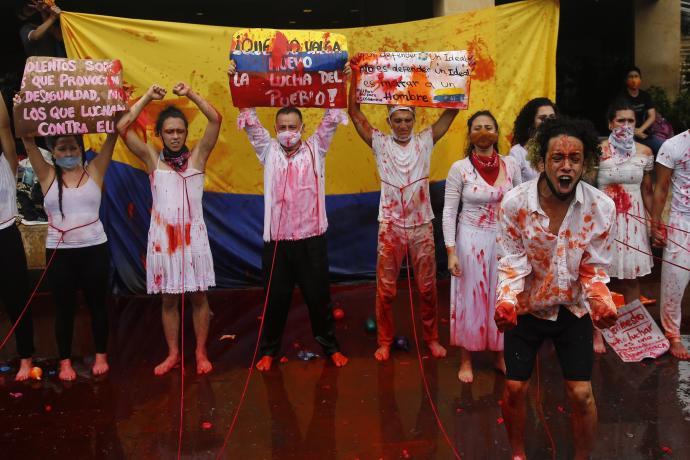 El régimen paramilitar colombiano ordena el genocidio juvenil para desmovilizar el Paro Nacional - Paro-nacional-Cali