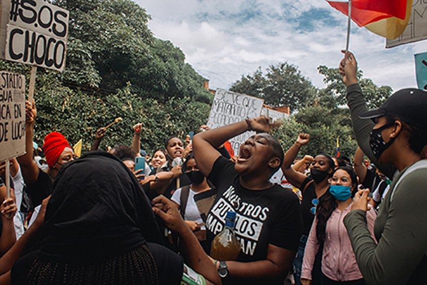 El régimen paramilitar colombiano ordena el genocidio juvenil para desmovilizar el Paro Nacional - resistencia-juvenil-Pereira
