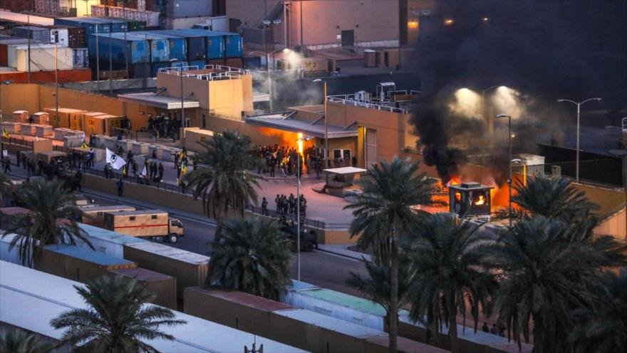 Atacan con cohetes la embajada de EEUU en Bagdad, Irak - 08163701_xl