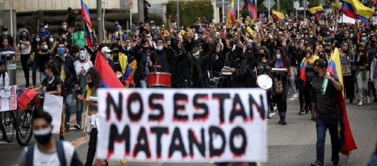 Observadoras de DD.HH. de Chile tras misión en Colombia: «Existen patrones comunes del actuar de la policía chilena y colombiana» - Colombia-masacre-1024x576-1