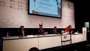 Miembros del Coica en el Congreso Mundial de la Naturaleza de UICN en Marsella (Francia). EFE/Mario García Sánchez