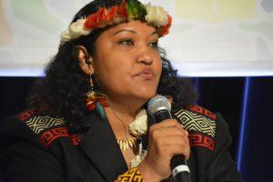 La líder indígena de la Guyana francesa, Claudette Labonté y coordinadora del área de familia y mujeres de la Coica en Marsella (Francia). EFE/Mario García Sánchez - Coica4-600x400-1-300x200